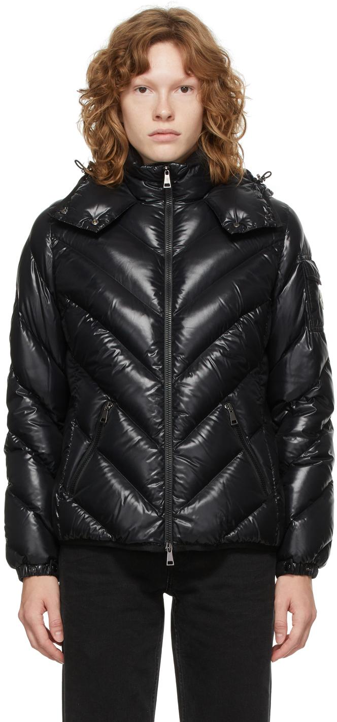Black Down Chevron Brouel Jacket