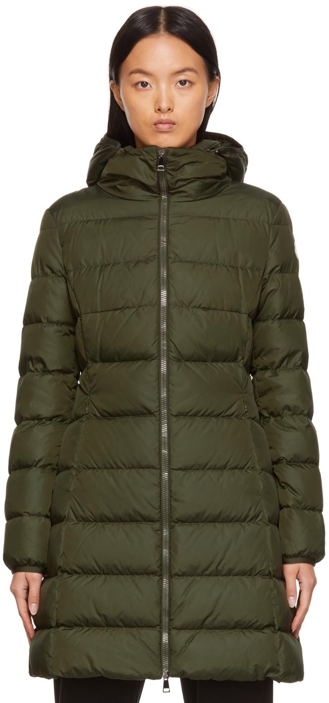 Moncler Down Nylon Long Gie Jacket