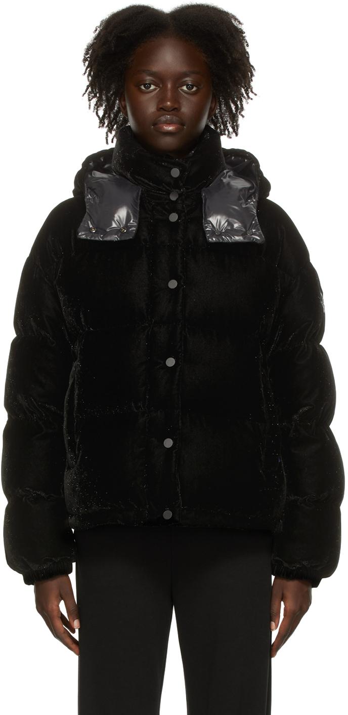 Moncler Black Down Velvet Daos Jacket