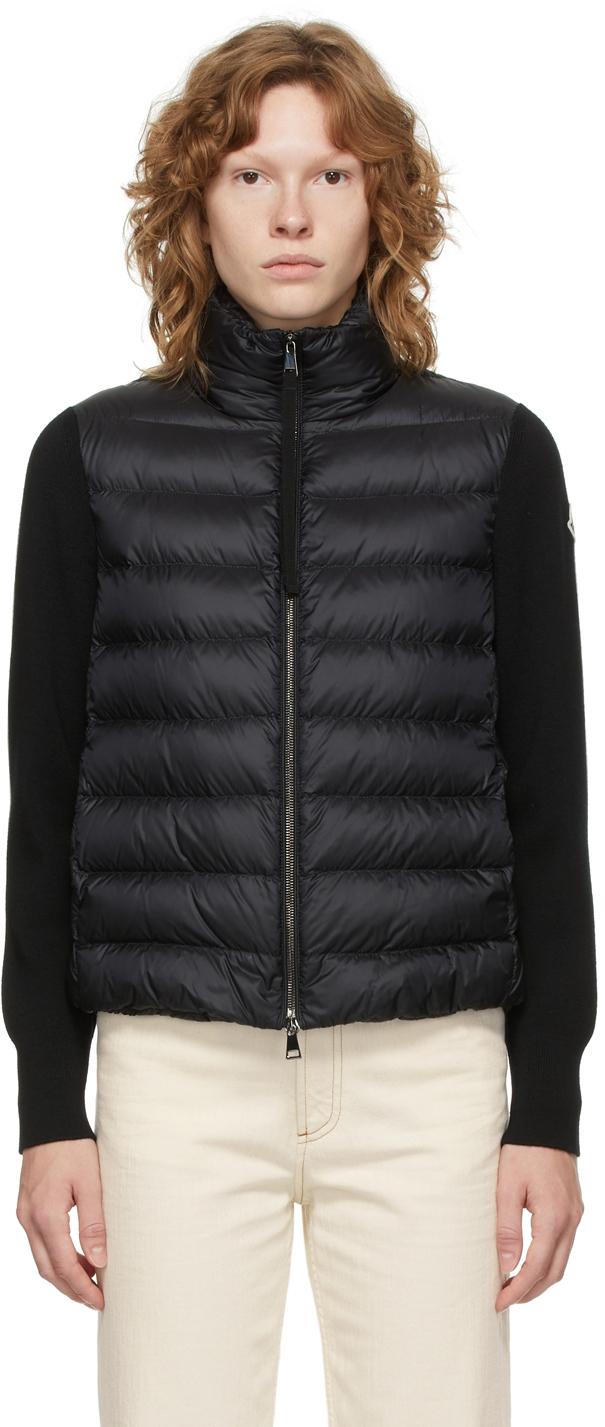 Moncler Black Down Paneled Jacket