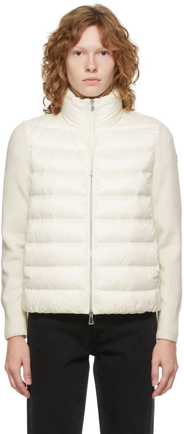 Moncler Off-White Down Paneled Jacket