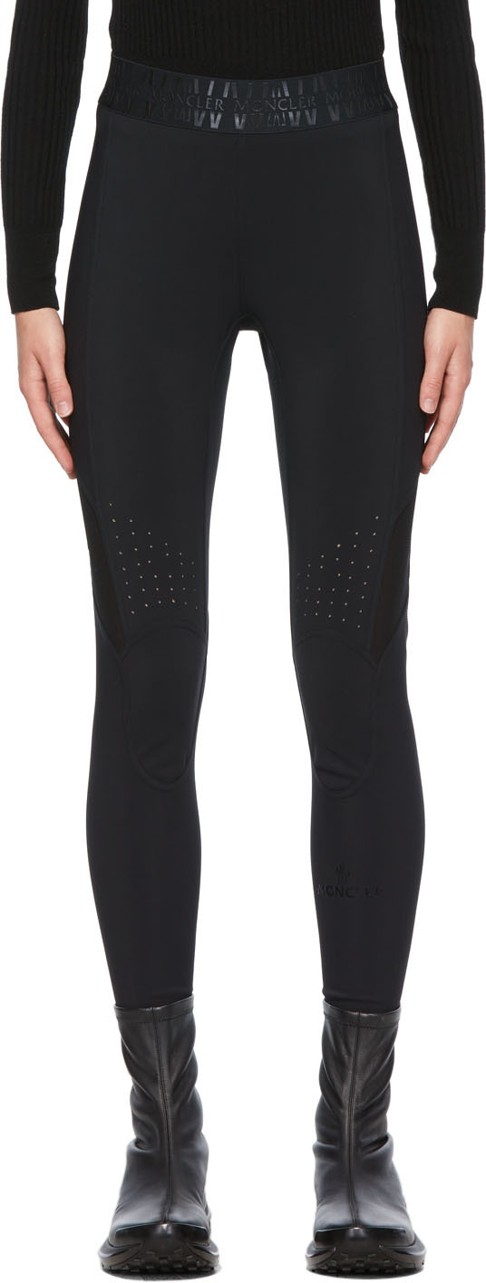 Black Technical Jersey Leggings