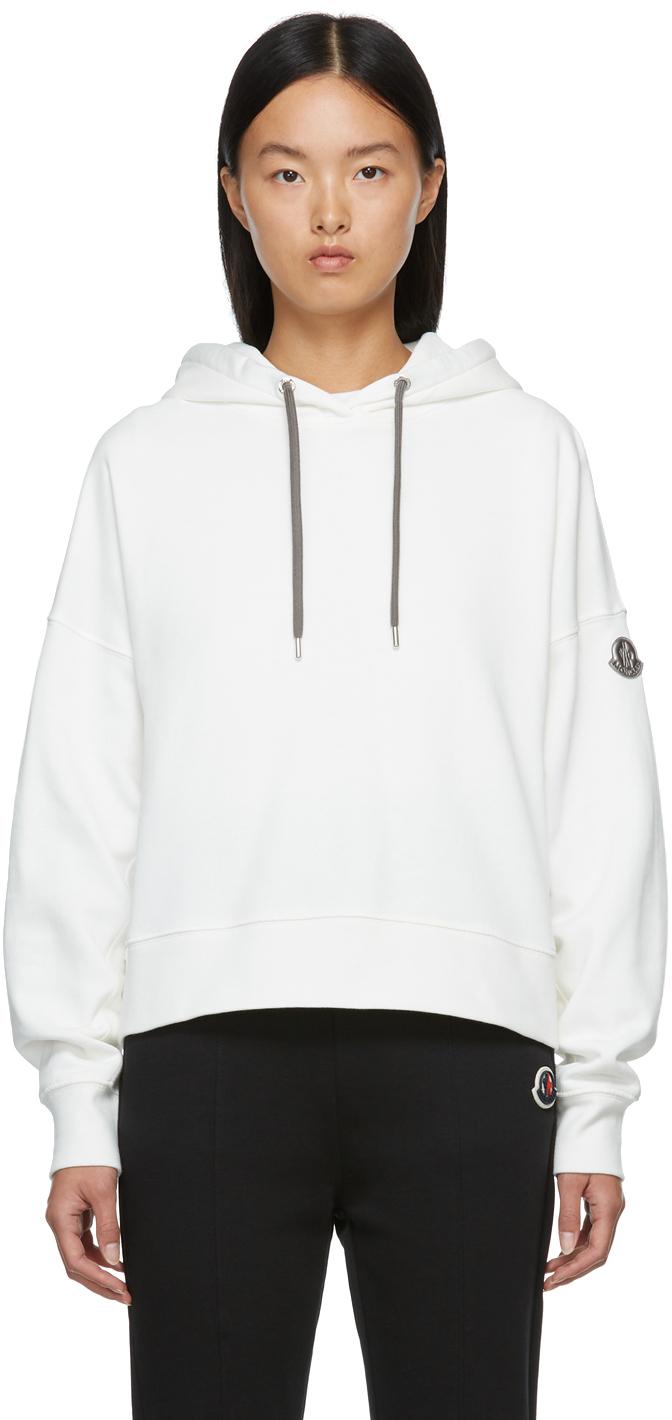 Moncler Off-White Metallic Logo Hoodie