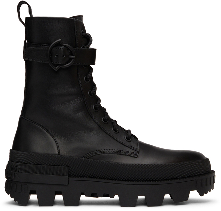 Black Carinne Lace-Up Boots