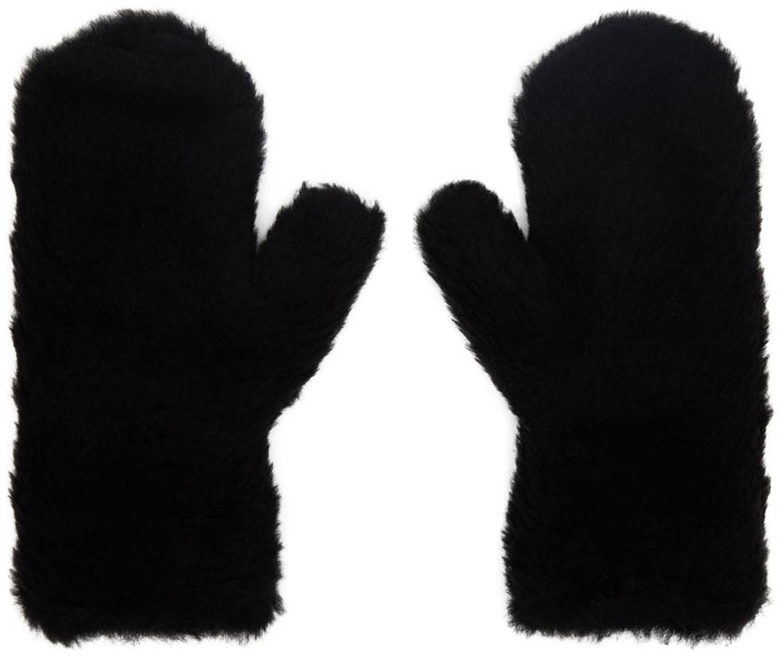 Black Teddy Mittens