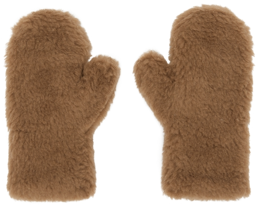 Brown Ombrato Teddy Mittens