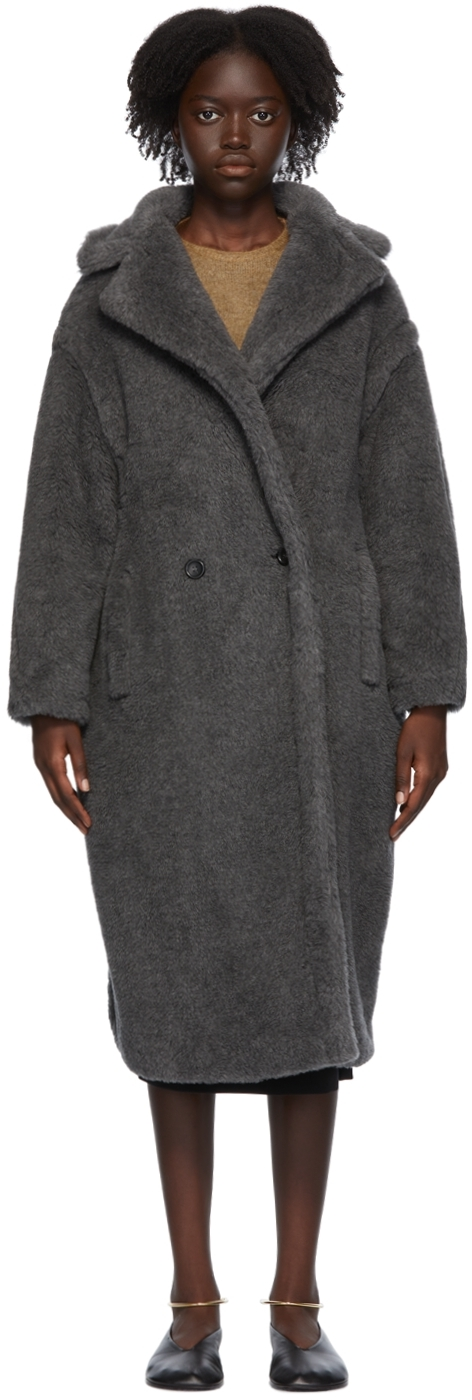 Grey Alpaca & Silk Teddy Bear Icon Coat