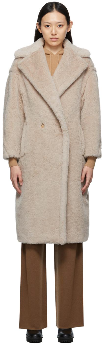Beige Teddy Bear Icon Coat