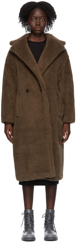 Brown Alpaca & Silk Teddy Bear Icon Coat