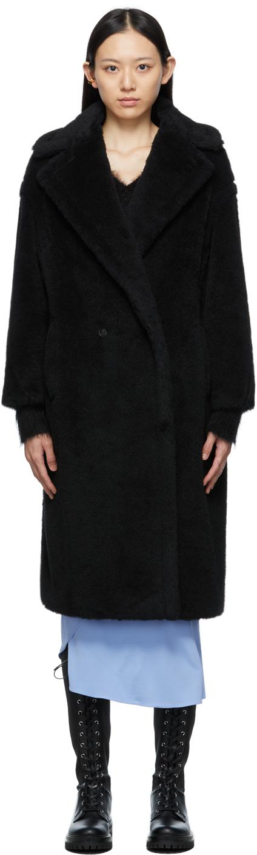 Black Teddy Bear Icon Coat