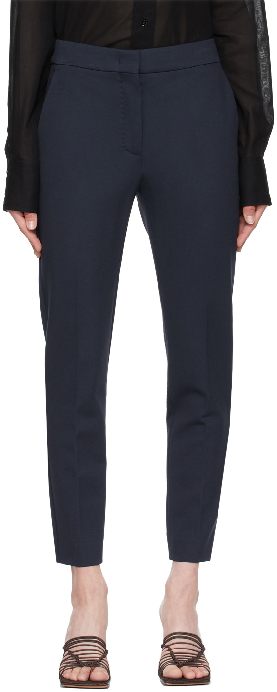 Navy Pegno Trousers