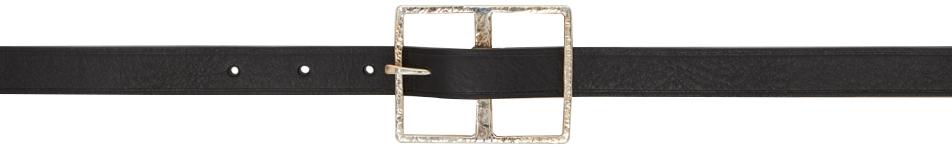 Black Big Buckle Belt
