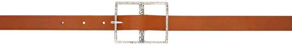 Tan Big Buckle Belt