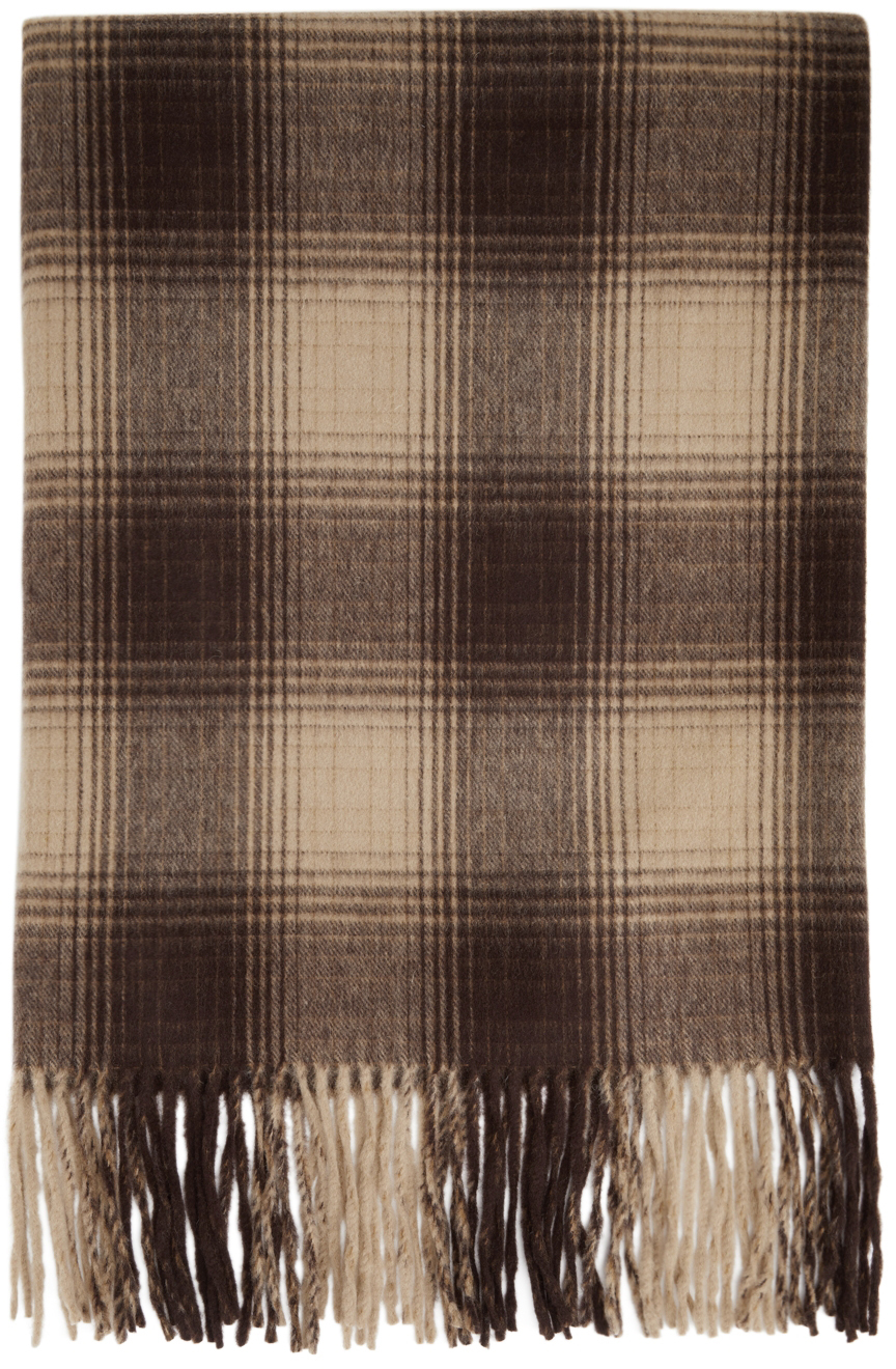 Brown Over Stall Scarf