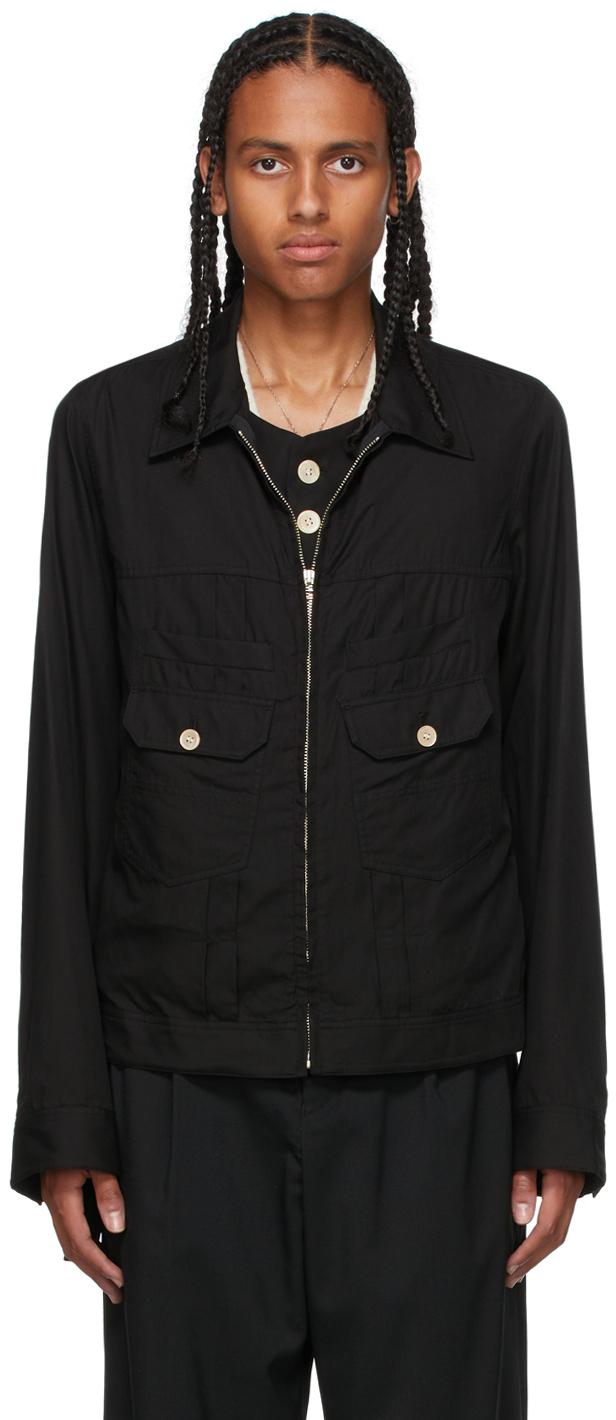 Black Ensemble Zip Jacket