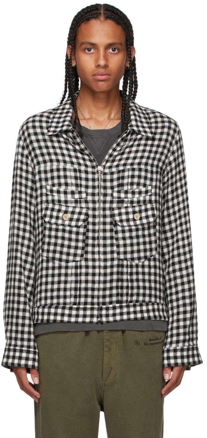 Black & White Check Overshirt Jacket