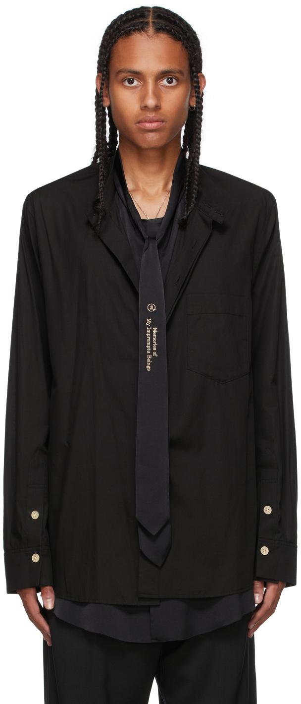 Black Ensemble Tie Shirt