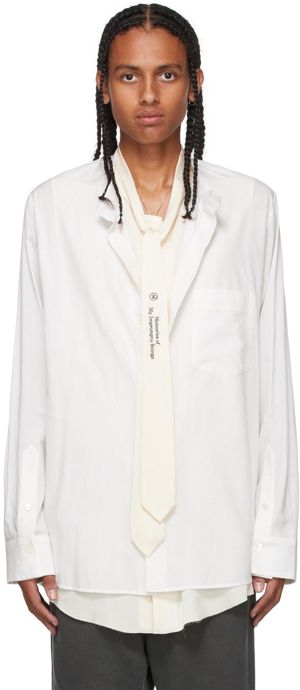 White Ensemble Tie Shirt