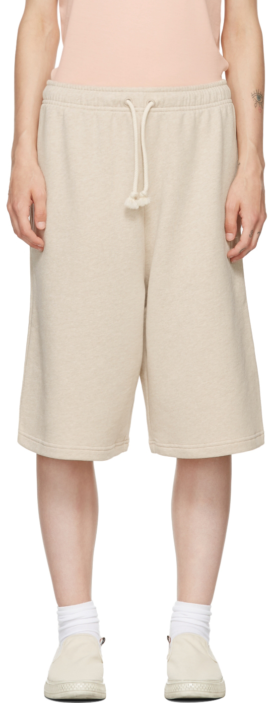 Acne Studios Beige French Terry Shorts In 633 Oatmeal