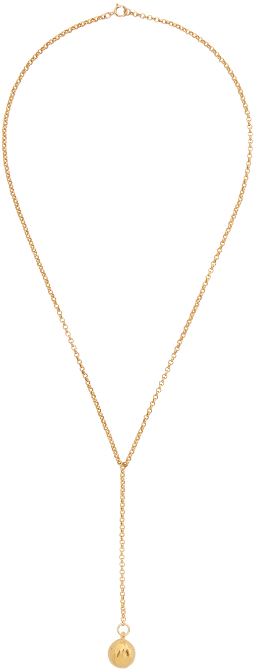Gold 'The Pendulum Of The Night' Necklace