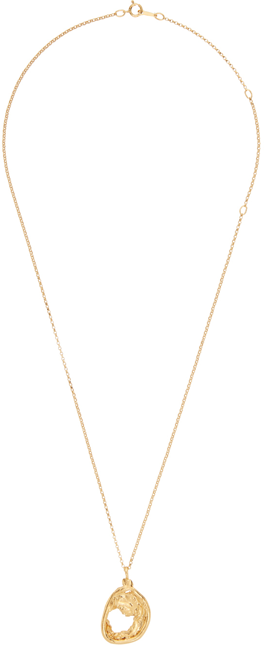 Gold 'The Aperture of Twilight' Necklace