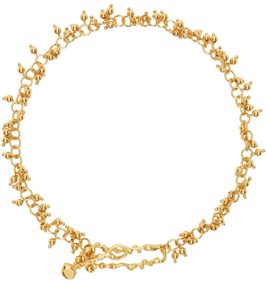 Gold 'The Scintillations Together' Choker Necklace