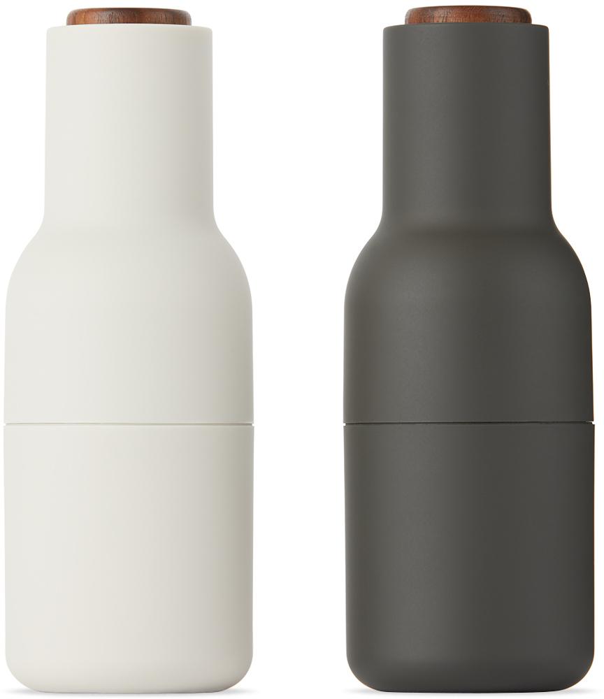 Black & Off-White Walnut Bottle Grinders