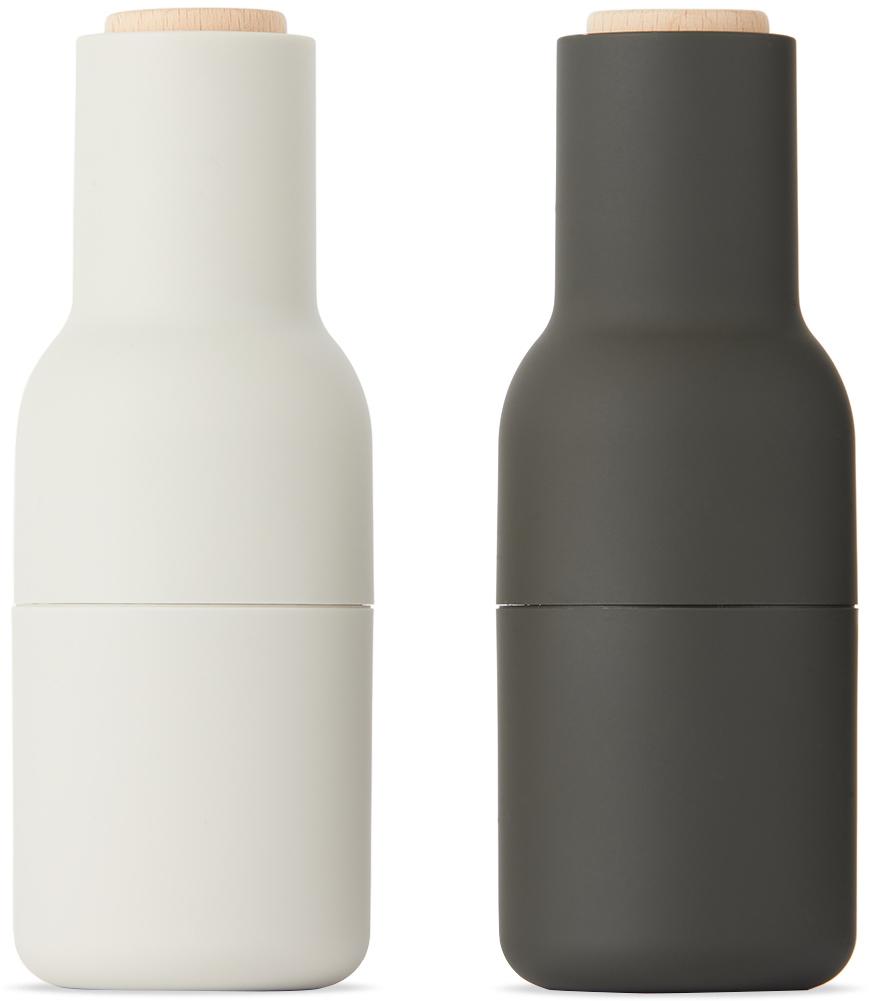 Black & Off-White Beech Bottle Grinders