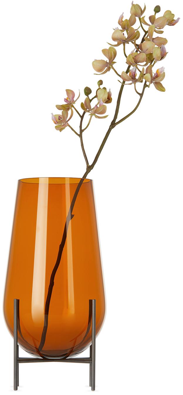 Orange Échasse Vase