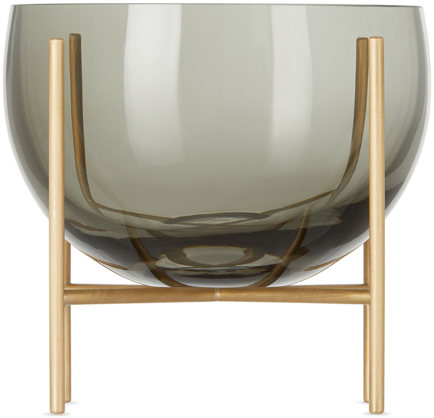 Black & Gold Small Échasse Bowl