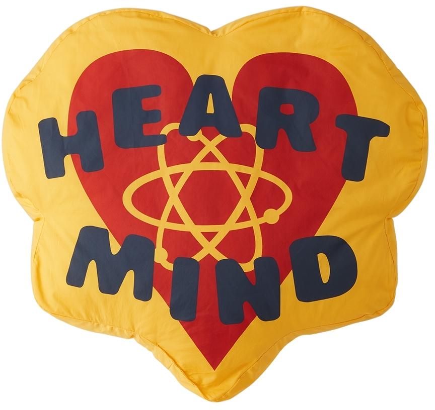 Yellow 'Heart & Mind' Pillow