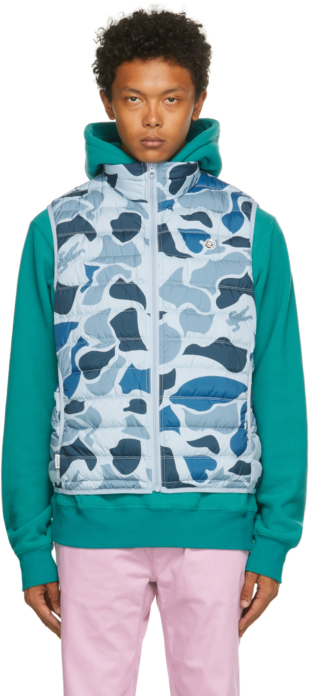 Blue Down Camo Lightweight Vest