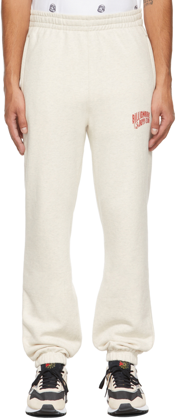 Beige Small Arch Logo Lounge Pants