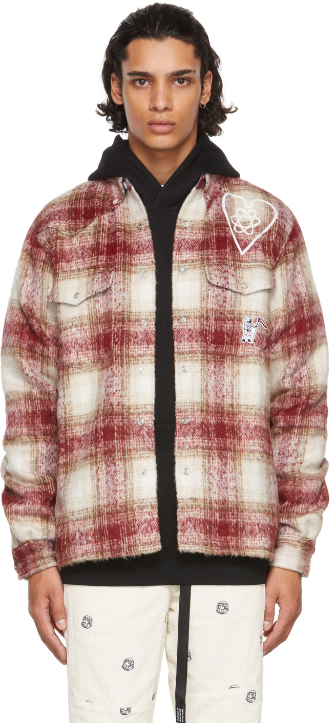Red & Beige Brushed Check Shirt