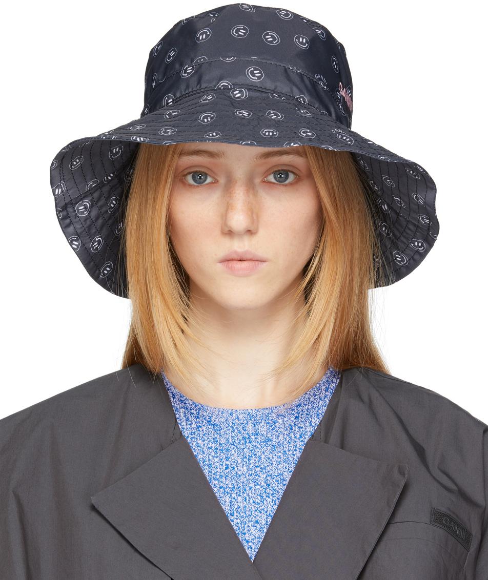 Black Graphic Bucket Hat