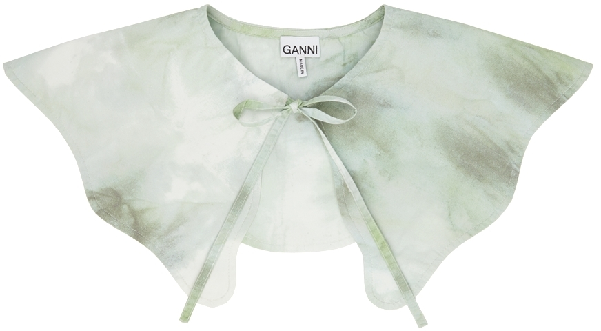Green Watercolor Pointed Collar