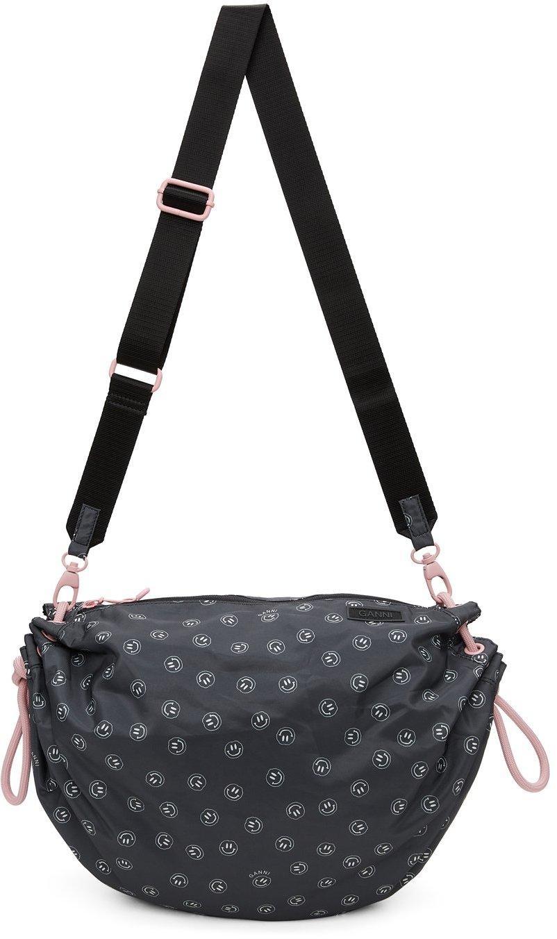 Black Recycled Tech Drawstring Bag