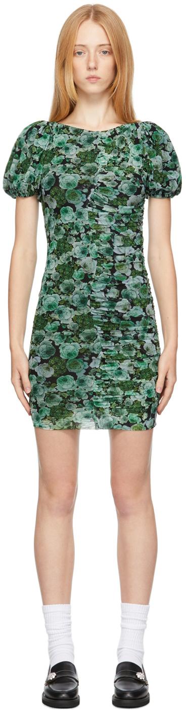 Green Mesh Floral Dress