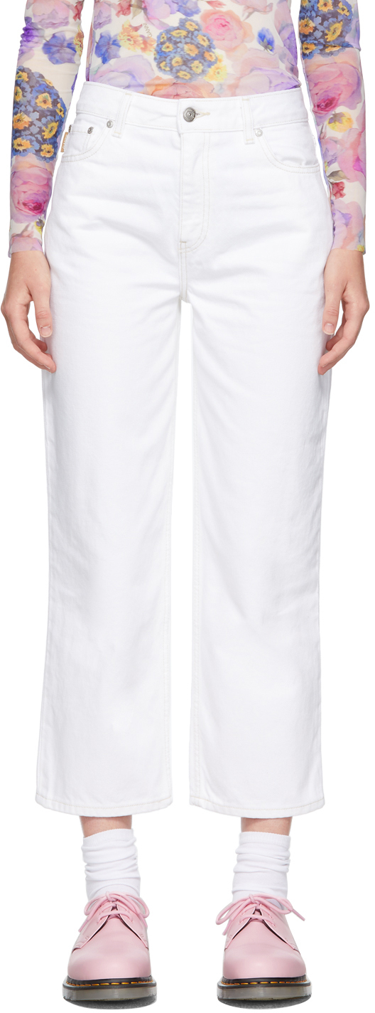 White Straight-Fit Jeans