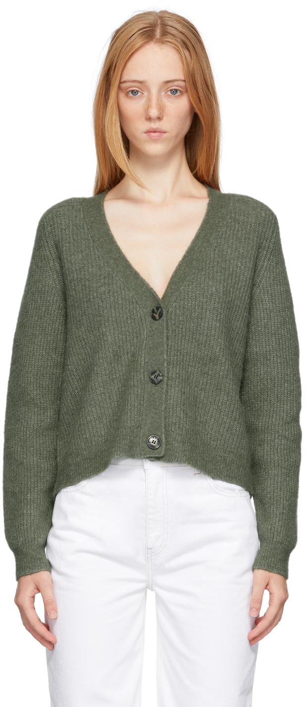 Green Alpaca Soft Cardigan