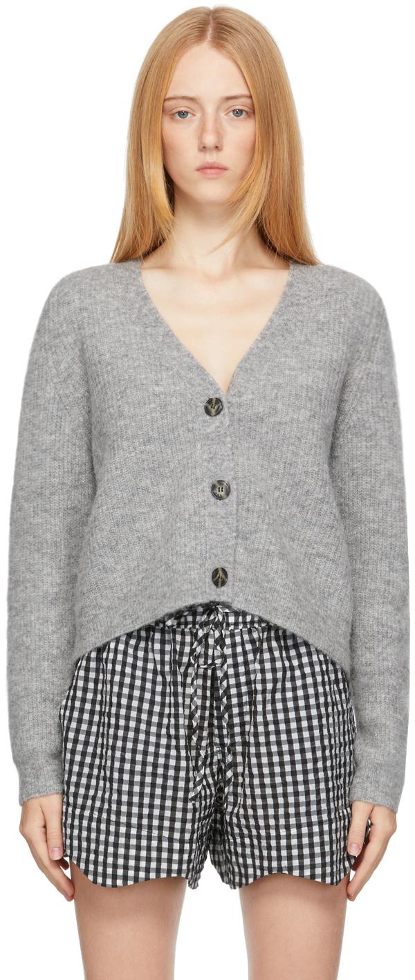 Grey Alpaca Soft Cardigan