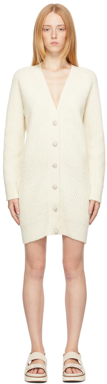 Beige Recycled Wool Long Cardigan