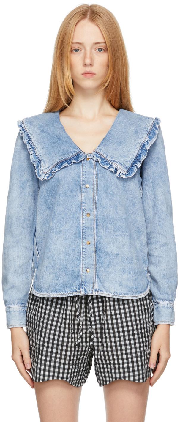 Blue Lightweight Denim Shirt