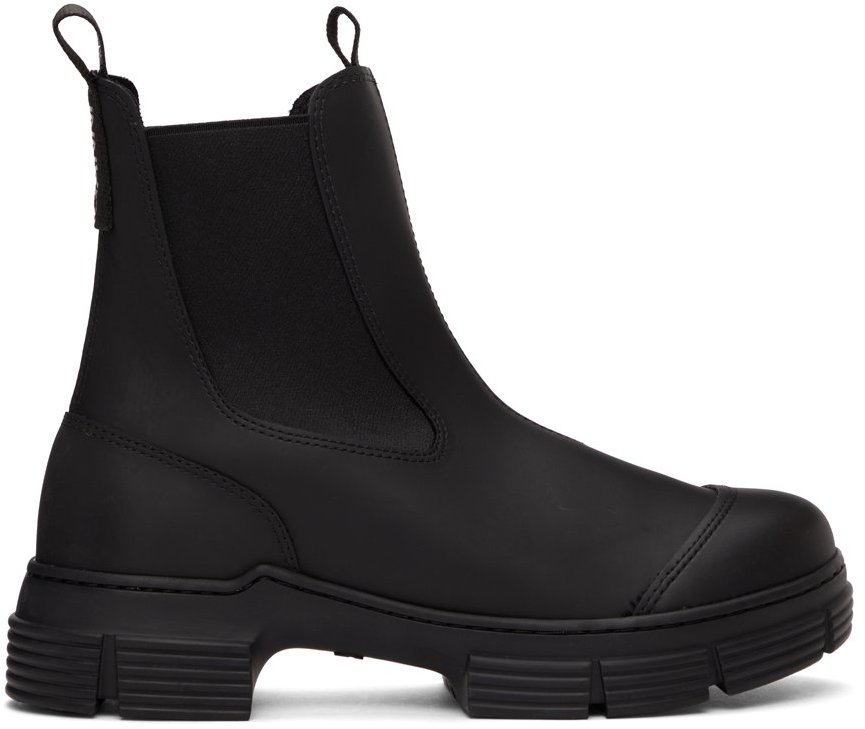 Black Recycled Rubber City Boots