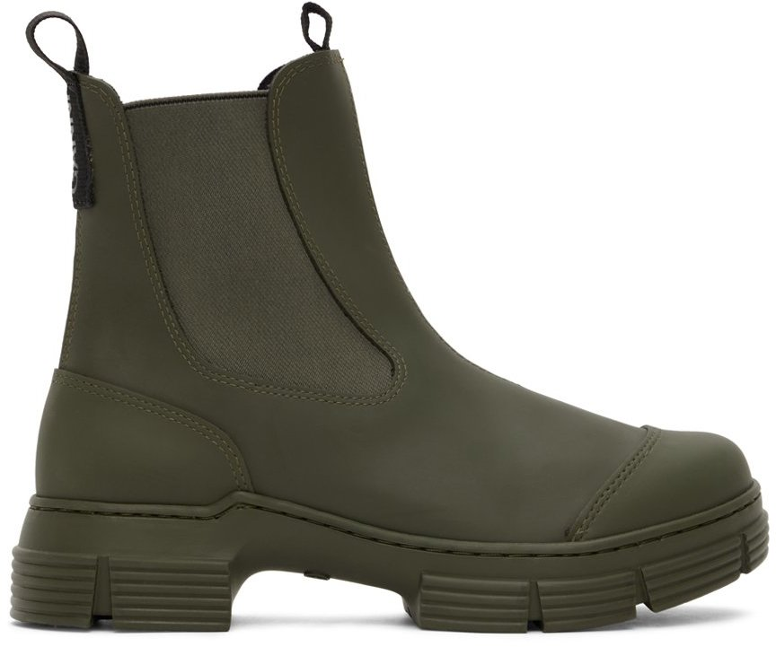 Khaki Recycled Rubber City Boots