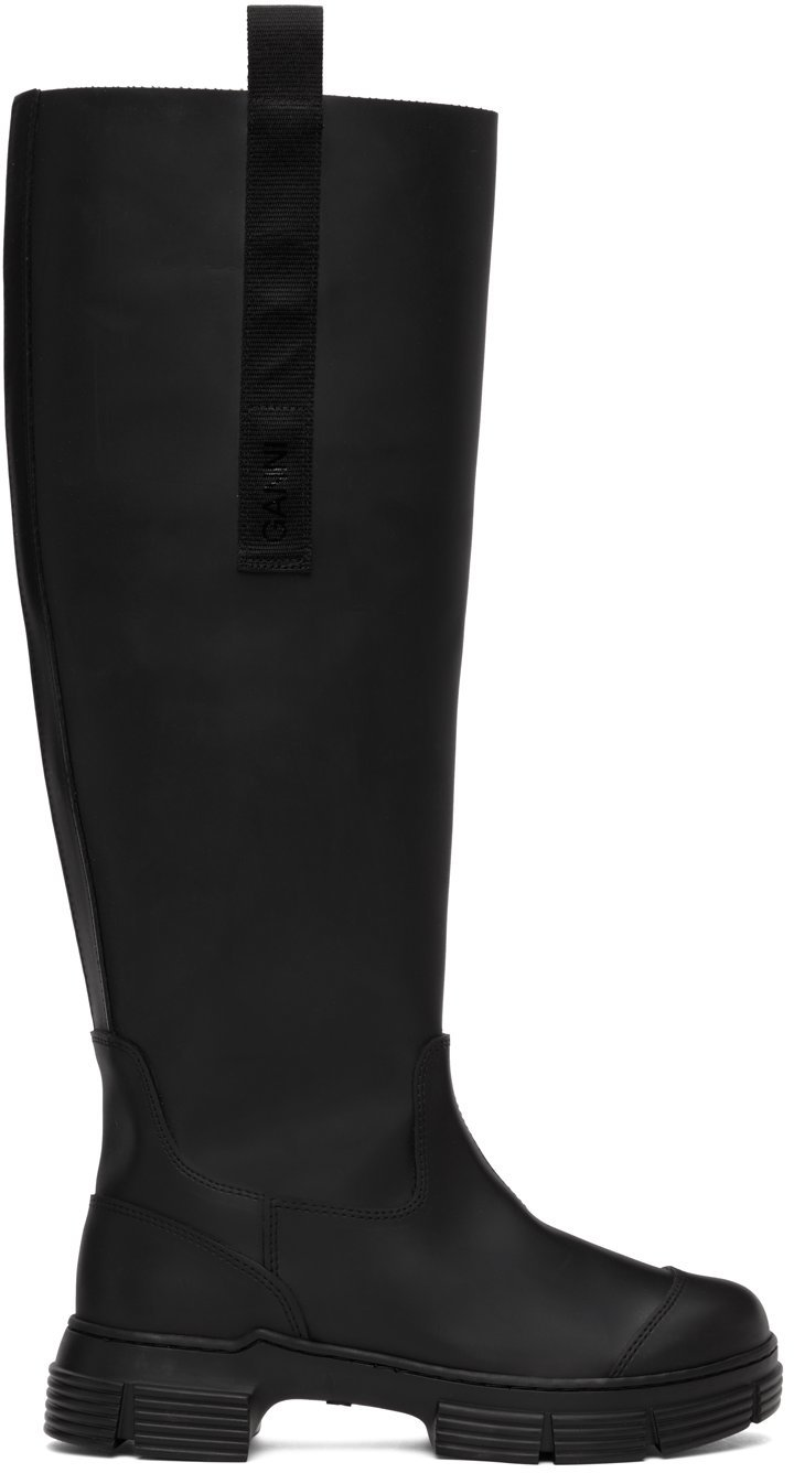 Black Recycled Rubber Country Boots