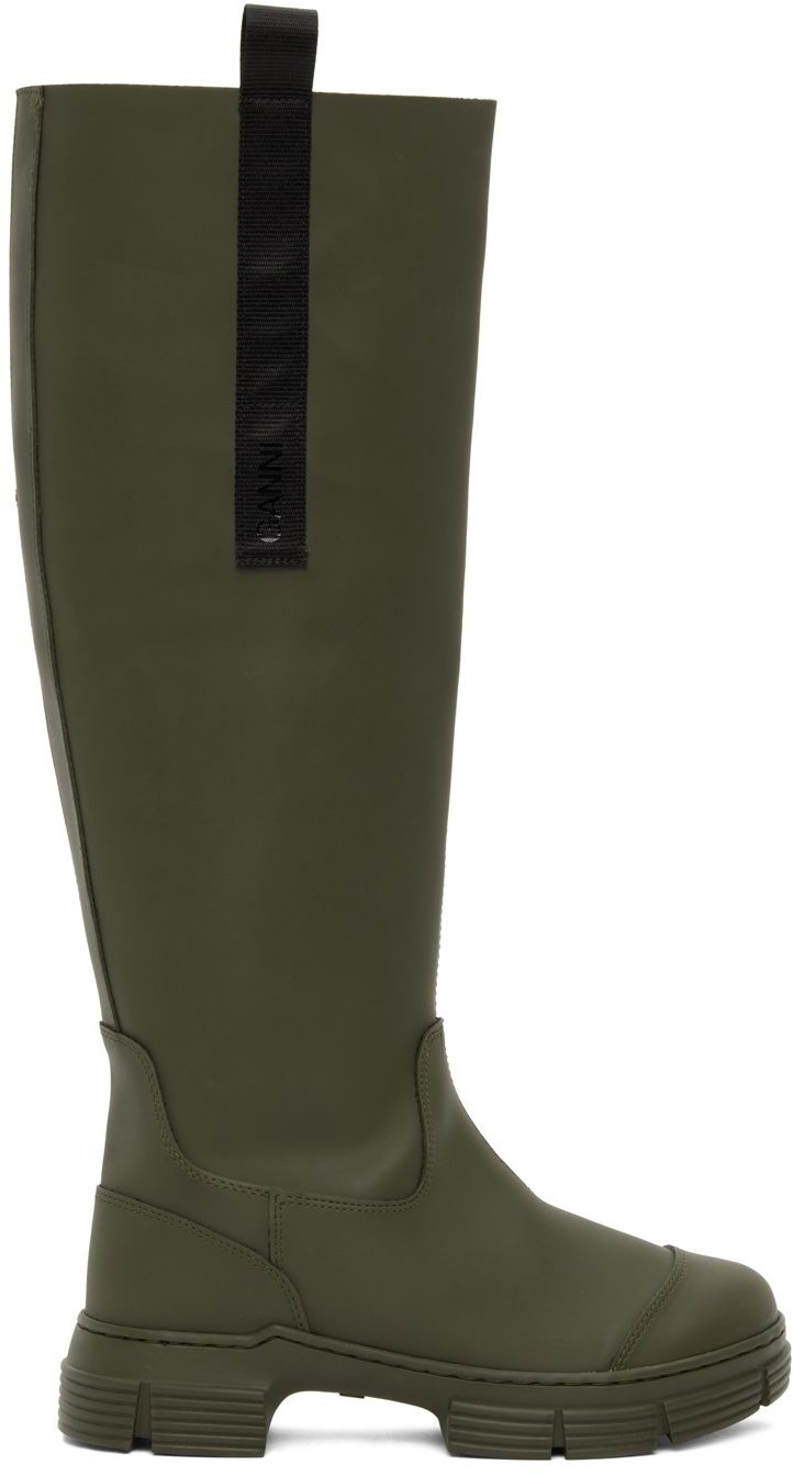 Khaki Recycled Rubber Country Boots