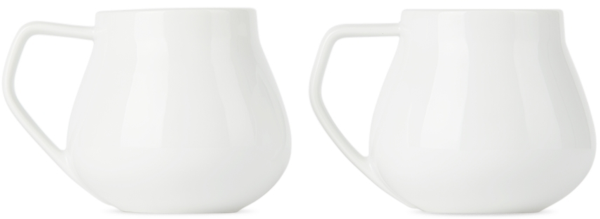 Two-Pack White Sky Thermo Mugs