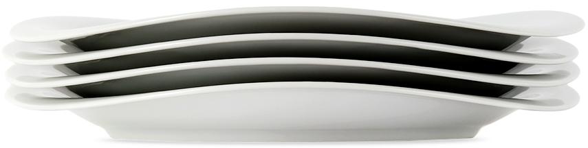 Four-Pack White Cobra Dinner Plates