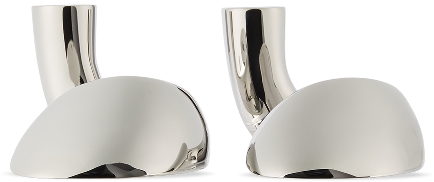 Stainless Steel Bloom Candle Holder Set